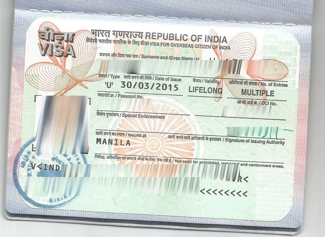 Travelling To India With Oci Card