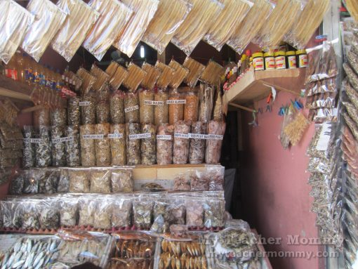 Smoked & dried fish shops, Tagaytay Mahogany Market