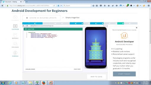 Udacity Android Development for Beginners