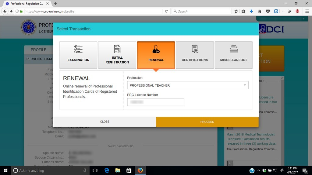 Online PRC ID renewal : My experience with PRC renewal online - My