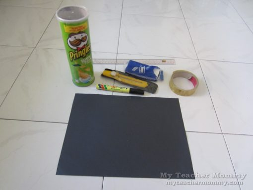 Pringles can pinhole camera, materials