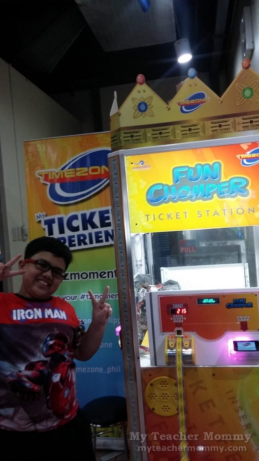 Ticket counter at Timezone Waltermart