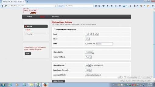 Baudtec PLDT DSL wifi modem, user access admin page