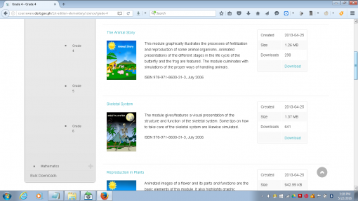 The DOST Courseware for Math and Science